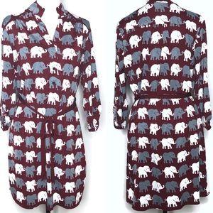 Boutique Elephant Crimson Dress Size Large